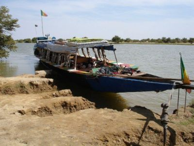 Rivierboot in Mali